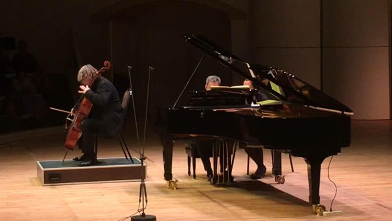 Brahms. Sonata No. 1 for Violoncello and Piano in E minor, Op. 38. Alexander Knyazev (cello) Konstantin Lifschitz (