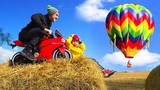 BABY Biker Senya Unboxing And Assembling Air Balloon Playing Playhouse and Ride on Power Wheel BIKE