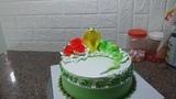 Decorating Simple Cream Cake, Beautiful, Shaping The Snake (26) B
