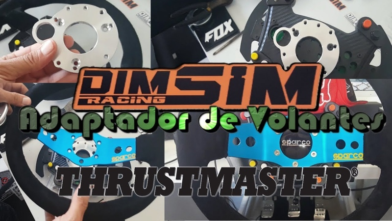 DimSimRacing - Adaptador de volantes Thrustmaster Sparco R383/Alcantara/Leather/Ferrari