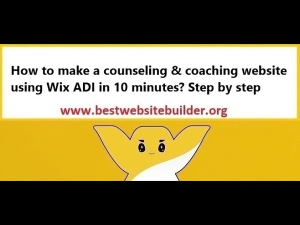 How to make a counseling coaching website using Wix ADI in 10 minutes? Step by step