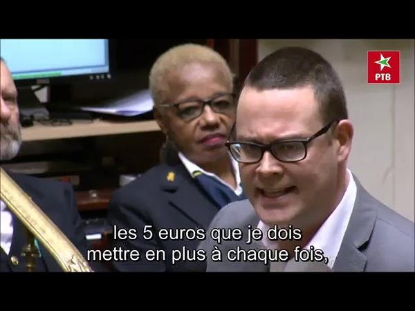 Gilets jaune Belgique Raoul Hedebouw a fait souffler un vent de révolte au Parlement