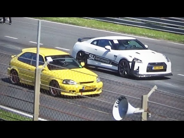 Turbo Civic -vs- 1000hp GT-R more!