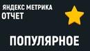 Яндекс Метрика. Отчет - популярное.