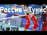 Волейбол. Чемпионат мира. Россия-Тунис. 14.09.2018