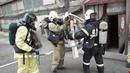 Пожарно тактические учения ПТУ на Новокузнецком мелькомбинате