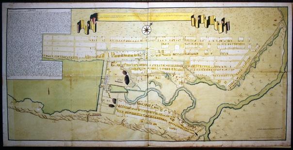 План устройства регулярной застройки города и меде-сереброплавильного завода, возле реки Барнаул(ки).