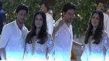 Shah Rukh Khan &amp Gauri Khan attended Ganesh Pooja at Ambani's house Mumbai