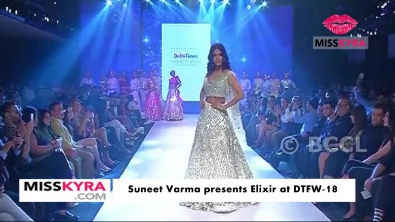 Malavika Mohanan closes the finale by Suneet Varma at Delhi Times Fashion Week 2
