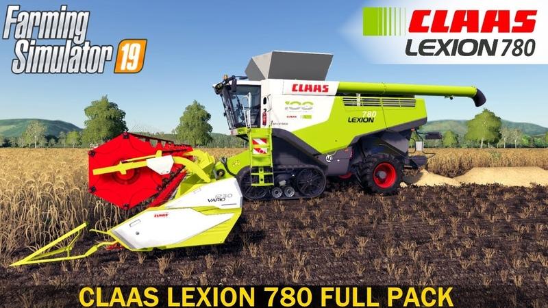 Farming Simulator 19 CLAAS LEXION 780 FULL PACK