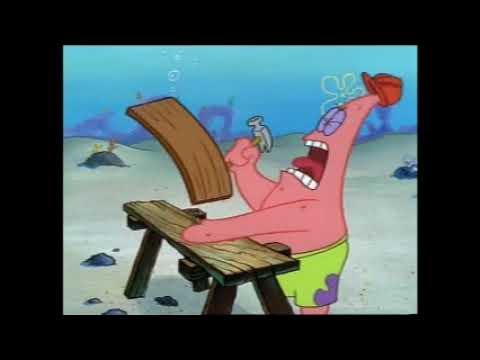 Spongebob Dropping Wood Planks into Patricks Hand for 10 Hours