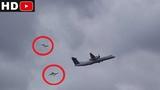 Два неопознанных объекта преследовали самолёт. иллюзия или реальность