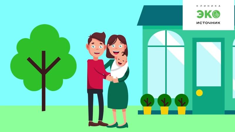 Клиника ЭКО Источник. Заказать презентационный видеоролик, инфографика, видео для сайта, анимация