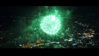 День города в Кисловодске. Праздничный салют. | City Day in Kislovodsk. DJI Phantome 4 Advanced