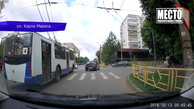 Видеорегистратор. ДТП на Карла Маркса, неработающий светофор. 20.09.2018