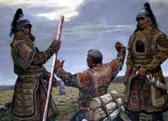 Монголы молятся