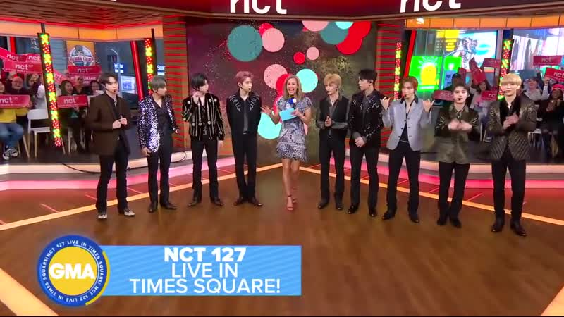 NCT 127 performs a mashup of Cherry Bomb and Superhuman l GMA