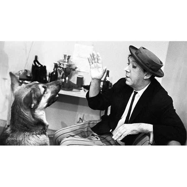 Редкие и интересные фотографии Юрия Никулина .Спасибо за и подписку Юрий Владимирович Никулин. 14 октября 1962 года. Фото Владимира Акимова\РИА Новости..Актеры Московского государственного цирка