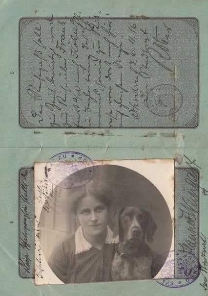 Герцогство Саксен-Кобург-Готское замечательно тем, что до 1918 года там можно было фотографироваться на удостоверения с домашними животными Паспорт образца 1916