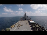 HMS Albion - sails from Indian ocean to Duqm, Oman
