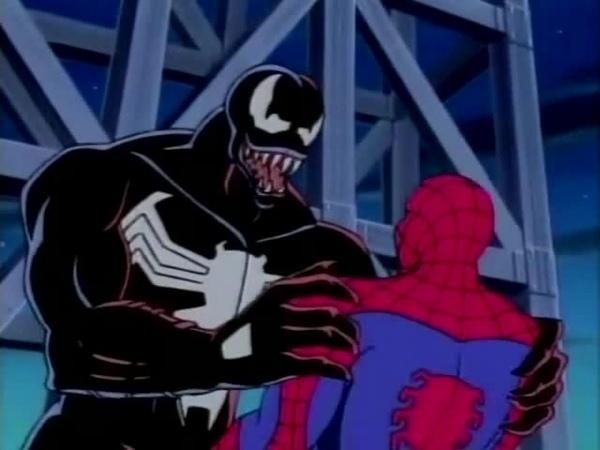 Веном наезжает на Человека-Паука