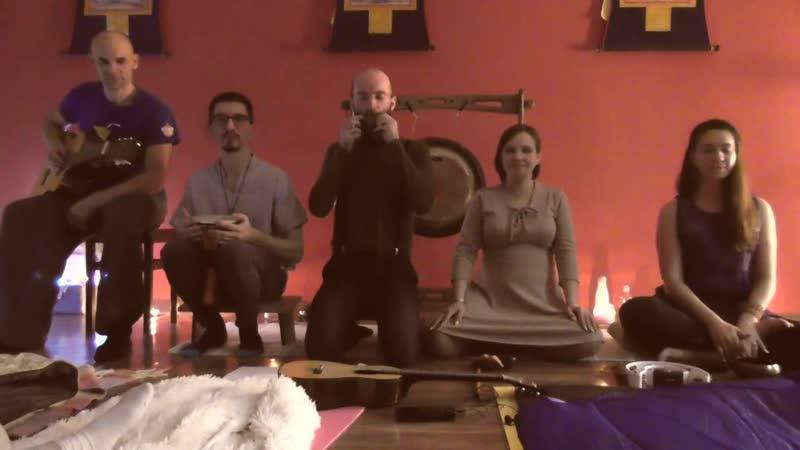 2018 12 08 Выступление группы Щебет и ветер перед Ночью гонгов 5 Пробуждение