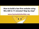 How to build a law firm website using Wix ADI in 11 minutes Step by step
