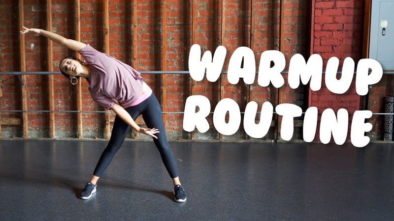 Simple Warmup For Dance and Exercise I At Home Stretches With @MissAuti