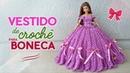 Vestido de crochê para bonecas Raquel Gaúcha