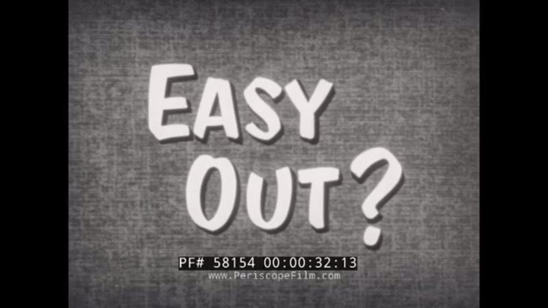 1950s U.S. NAVY FILM EASY OUT CONSEQUENCES OF BAD CONDUCT DISCHARGE 58154