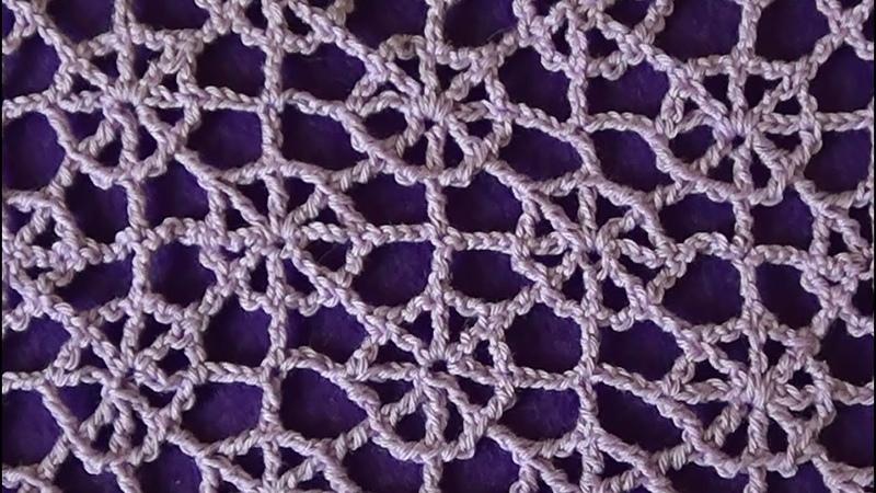 Ажурный узор Паутинка Lace pattern Cobweb