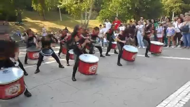 Batucada spectacol de percuție 4 Compania Aainjaa Colombia in Romania 2