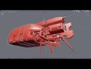 Blender 2.8 Live Stream Space Ship Modelling EEVEE