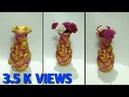 POT DECORATION Handmade ROSE FLOWERS DESIGN BY SLIPKAR CRAFTS OMS arts and crafts