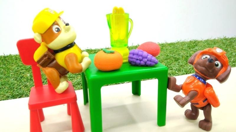 Kinder Video mit Paw Patrol. Ein Fruchtcocktail für Chase.