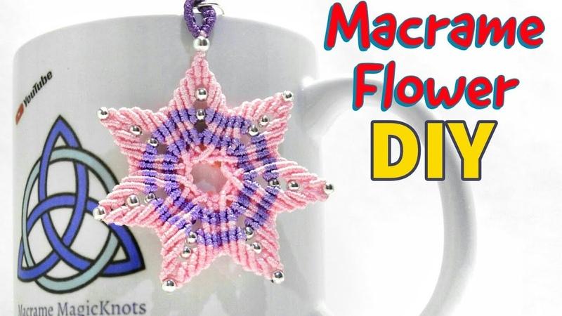 HOW TO Macrame Flower Mandala | Easy Flower DIY