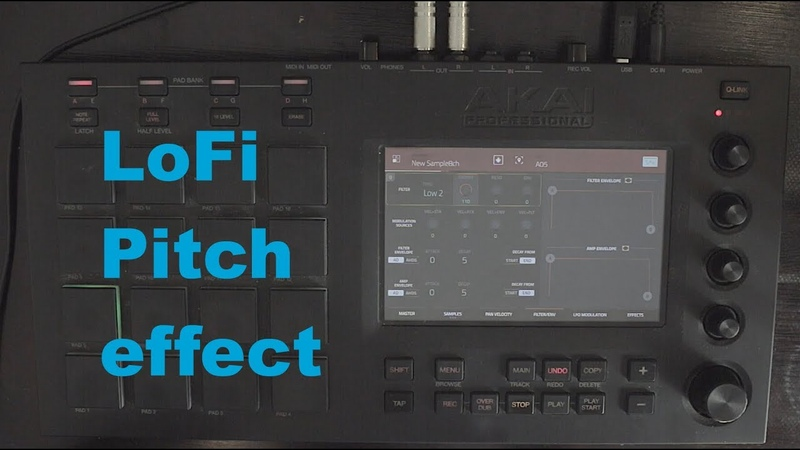 Lofi pitch effect on the MPC - Mpc Touch Live X