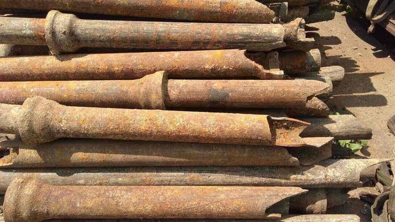 Чугунный коп набрали больше пол тонны металла