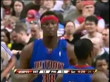 Kwame Brown &amp The Pistons - Battle For Playoffs Position vs. Sixers! (04.04.2009)