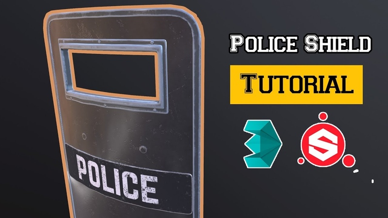 Police Shield Tutorial Modeling UV unwrapping and Texturing in 3Ds Max Substance Painter