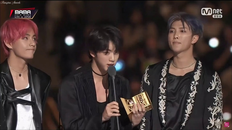 BTS Win Worldwide ICON Of The Year MAMA 2018 in Japan