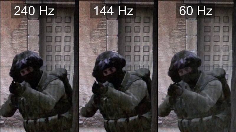 [Slow motion] 240Hz vs 144Hz vs 60Hz - CS:GO