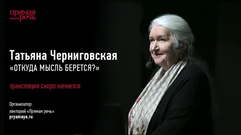 Черниговская Татьяна Владимировна. Откуда мысль берётся.