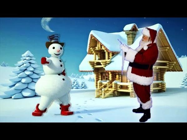 Lustiges Weihnachtsvideo für Kindern mit Weihnachtsmann | Der tanzende Schneemann