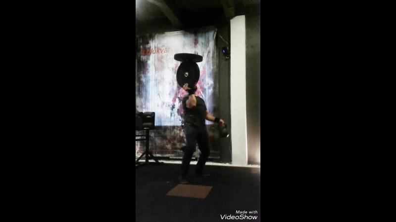 Комбо-номер Адаптация, блины по 10kg и гиря 16kg