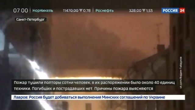 Новости на Россия 24 • Пожар в Военно-морской Академии в Санкт-Петербурге локализован