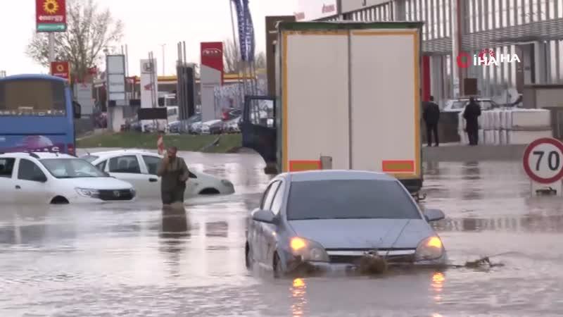 Edirnede Sel Felaketi Dereler Taştı, Araçlar Mahsur Kaldı!