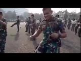 Танец солдат военно-морских сил Индонезии,под музыку