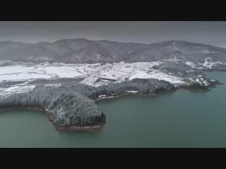 Aoos springs, lake with snow 4k - epirus - greece   phantom 4 pro