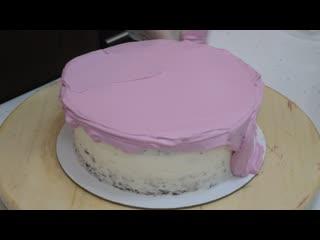 Обмазка торта финишным слоем